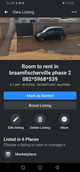 A very big room available to rent in braamfischerville phase 2