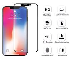 Защитное 3D стекло на iPhone X