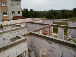бетонні роботи, стяжка, отмостка, фундамент, армопояс, кладка газоблок