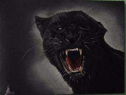 """картина маслом """"Пантера"""", отличный подарок"""