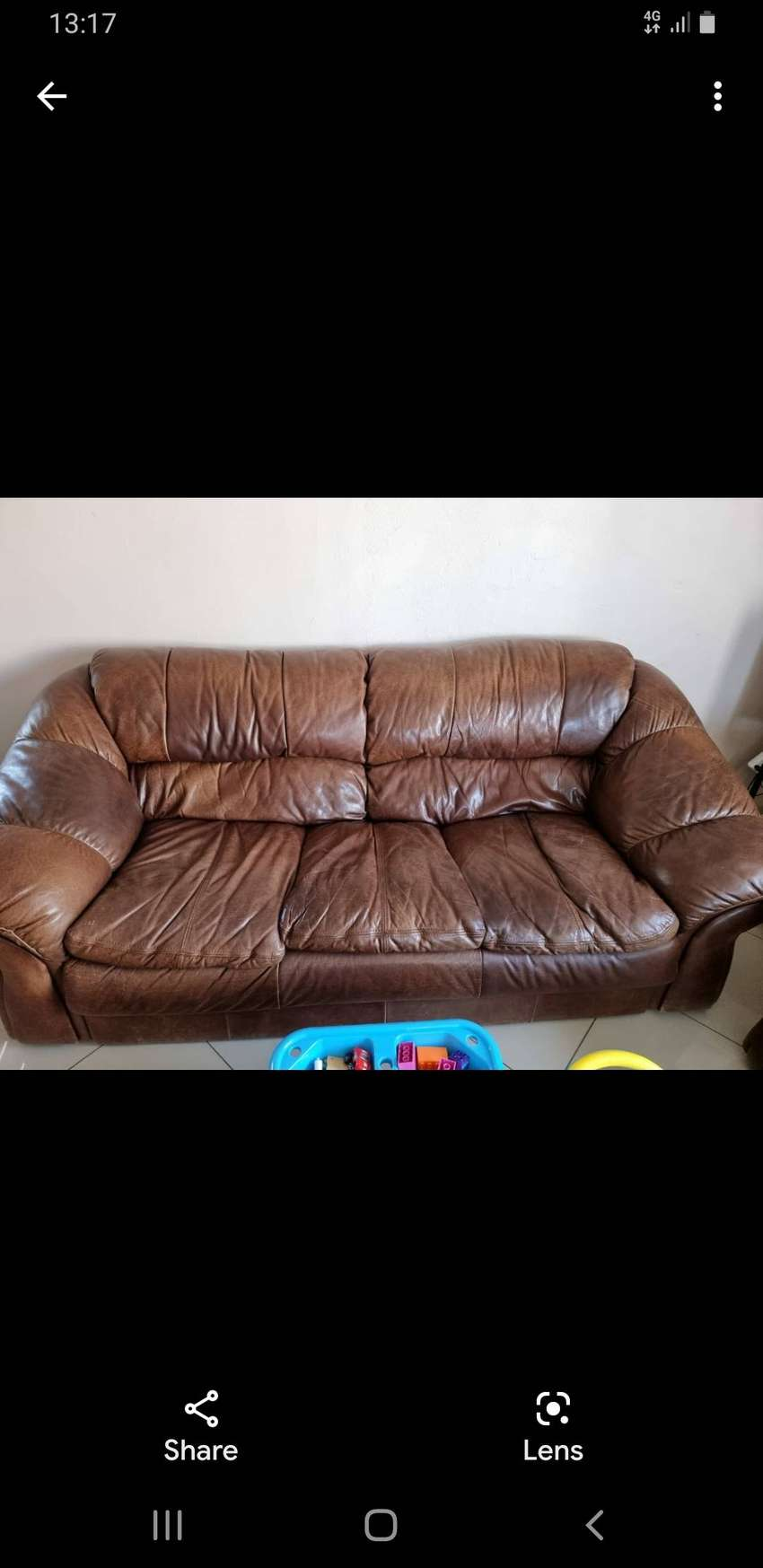 Grafton 3-2-1 leather couch (bianca)