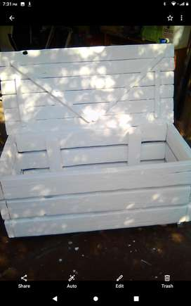 Wooden storage box Handmade one of a kind!!!