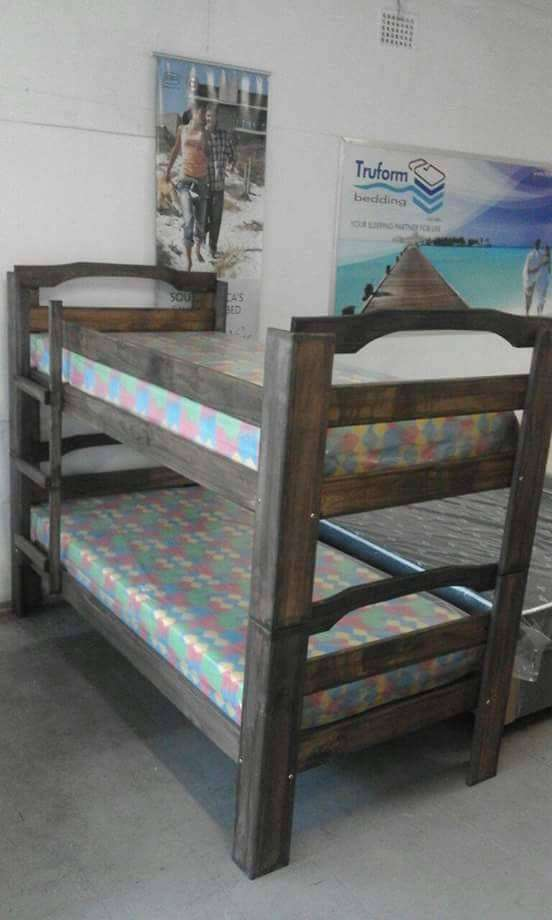 Double bunk Beds with mattresses R2999-(YOU CAN PAY AT HOME) 0