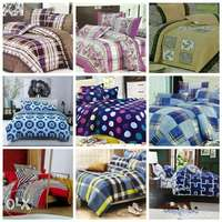Warm cotton duvets with one matching bedsheet and 2 pillowcases 0