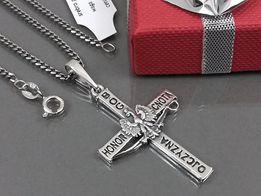 Łańcuszek srebrny Pancerka + krzyżyk Patriotyczny z Orłem w Koronie