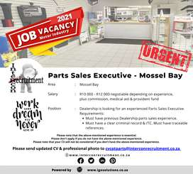Parts Sales Executive - Mossel Bay