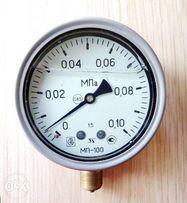 Манометр МП-100 с жидкостью (виброустойчивый) 0-0,10 МПа
