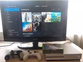 Xbox One S 1TB With 6 Games & 2 Remotes
