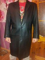 Кардиган, пальто, плащ,кожа, размер 48-50