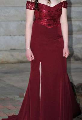 Lovely Maroon Evening Dress