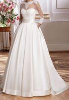 Śliczna suknia ślubna Margarett Havana rozmiar 36 zdejmowana góra