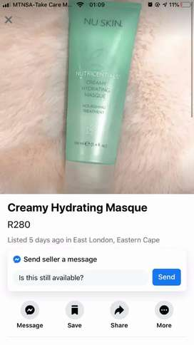 Creamy hyrating masque