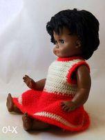 Кукла эпохи СССР негритянка ГДР Германия 1950-е клеймо Hans Volk HV