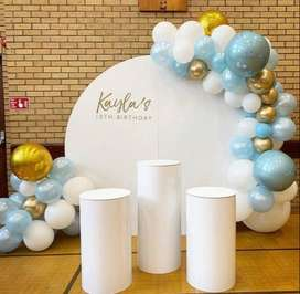 Round Backdrop and plinths