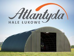 Hala Łukowa stalowa 10x15m wiata hangar garaż NOWA przęsło konstrukcja