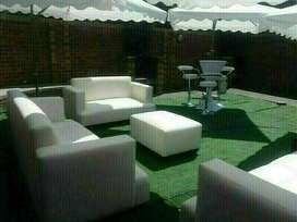 VIP couches hire, Cocktail Mix with Couches decor, Garden umbrellas