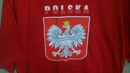 POLSKA t-shirt Godło '' XXL'' bawełna czerwona koszulka