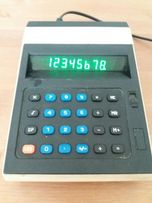 Lampa VFD. Kalkulator Elwro 144