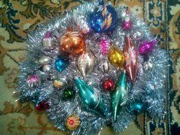 Советские стеклянные игрушки на ёлку
