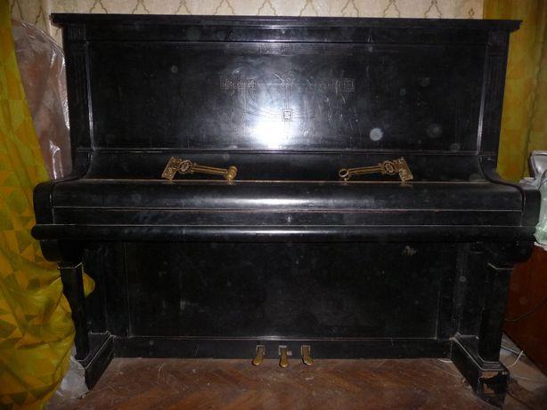 Немецкое антикварное пианино H. Steinhilber слоновая кость Германия
