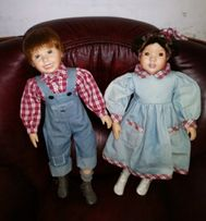Фарфоровые куклы пара 60 см