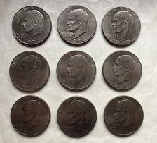 Kolekcja monet One Dollar USA sztuk 9 lub pojedynczo