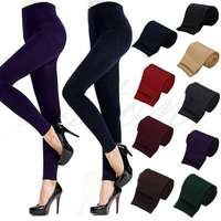 Image of Free Shipping Women Winter Warm Slim Stretch Footless Leggings Thick S