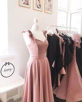 Вечернее платье розовое