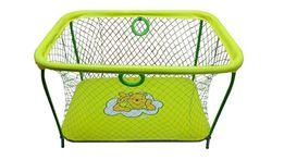 """Манеж игровой KinderBox """" люкс с крупной сеткой """"(желтый мишка)"""