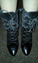Сапоги-ботинки-зима кожа 36 р-р