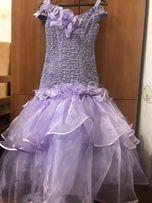 Нарядное бальное платье для девочки 6-12 лет на утренник, выпускной