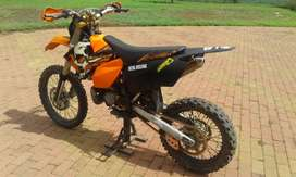 Very neat KTM 200 EXC 2 stroke for sale.