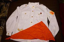 набор рубашка пионерская, галстук, значок