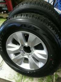 Image of 265/65R17 Bridgestone dueler tyres latest version withe mags 17 inch.