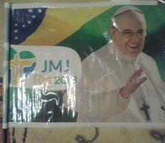 Flaga z Papieżem Franciszkiem SDM Rio 2013