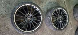 19 inch C63 oem narrow an wide rims & tyres