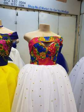 Traditional wedding dresses and man shirts