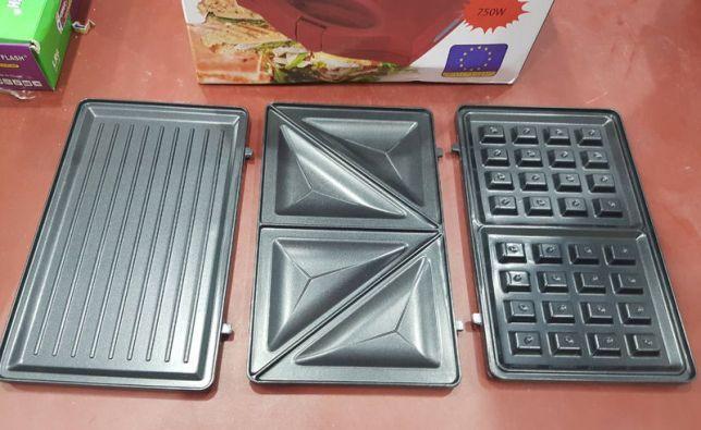 Сэндвичница вафельница бутербродница тостер гриль 3 в 1 WimpeX 1056 Одесса - изображение 7