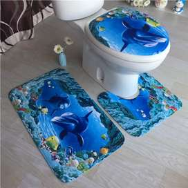 3D themed toilet sets