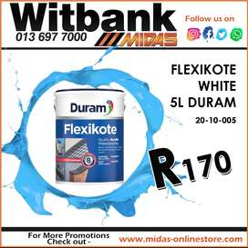 Duram Flexikote 5L ONLY R170 at Midas Witbank!