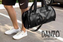 Мужская кожаная сумка бочка Philipp Plein дорожная спортивная рюкзак