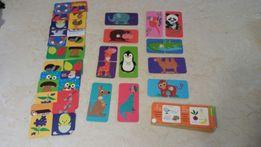 Puzzle domino i zgadywanki 3+ gra z magnesem karty