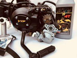 Двигатель на мопед 110 см3 ++карбюратор Альфа/Дельта мотор механика