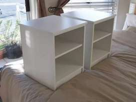 Two white bedside tables for sale 230 each