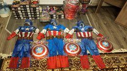 Костюм Капитан Америка 3-8лет,Marvel,оригинал+маска! Щиты в наличии!!!