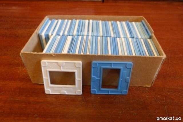 Рамки для слайдов пластмассовые. Новые 100 шт