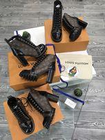 Сапоги ботинки ботильоны Louis Vuitton LV натуральная кожа