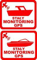 n568-naklejka monitoring GPS motorówka, łódź, jacht łódka