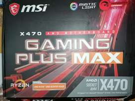 X470 gaming motherboard with accessories