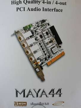 MAYA High Quality 4in/4out PCI Audio Audio interface plus Midi